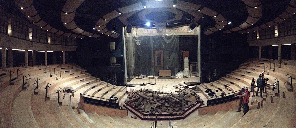 The Maclab Theatre under construction.